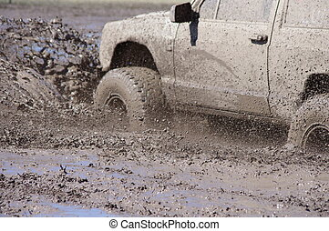 Mud Bogging - A mud bogging good time.