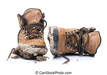 Mud Boots - dirty hiking boots