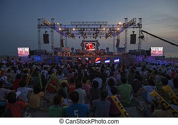 Mud Festival in South Korea beautiful Daecheon, Performance