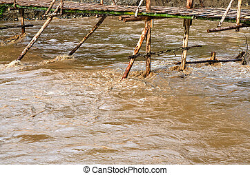 Mud river after heavy rain