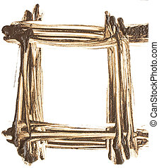 Mud-shaped frame on a white background.