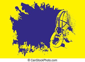 Mud splat with shoe