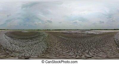 Mud volcano Bledug Kuwu, Indonesia - vr360 Mud volcano,...