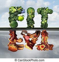 mudança, estilo vida, comer