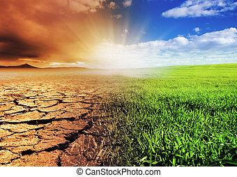 mudança, meio ambiente