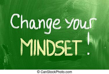 mudança, seu, mindset, conceito