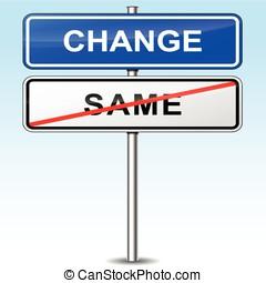 Mudança, sinal