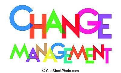 mudança, transparant, gerência, letra, coloridos