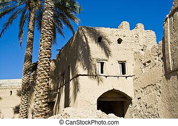 Mudbrick building in Bahla, Oman