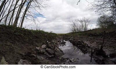 Muddy forest road. Dirty forest road - Dirty forest road....