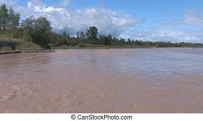 muddy river 1 - muddy stream after rain
