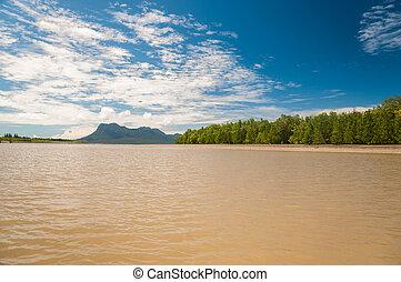 Muddy Sea - On the way to Bako National Park - Borneo , ...