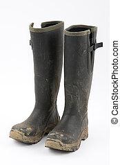 Muddy wellies - Green muddy wellies