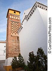 Mudejar minaret in Archez, Malaga, Spain