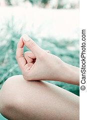 mudra, ioga, mão
