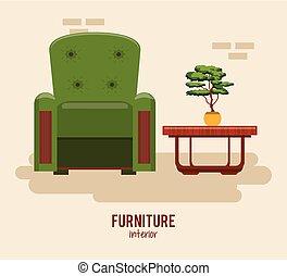 muebles, casa interior