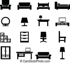 muebles, icono