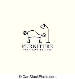 muebles, logotipo, diseño
