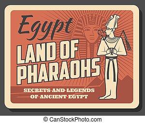 muerte, egipto, tierra, tutankhamun, máscara, faraones