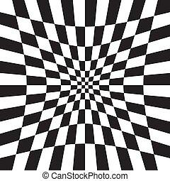 muesca, patrón, distorsión, effect., hueco, depresión, torcer, versión, superficie, chequered, tablero de ajedrez, a cuadros, plano de fondo, deformación, deformar, cuadrados