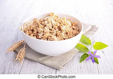 muesli, bowl of cereal