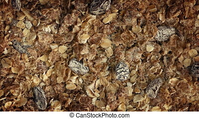 Muesli Breakfast Cereal Closeup - Delicious muesli breakfast...