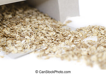 Muesli in a box on a white background