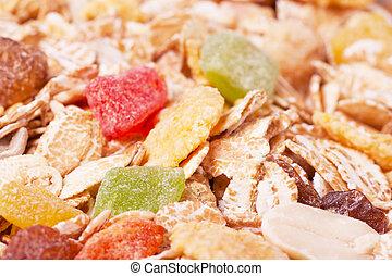 Muesli - Macro view of a healthy dry food muesli