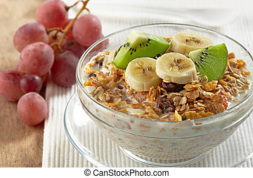 muesli with fresh fruits