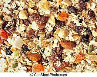 Muesli with fruits and nuts