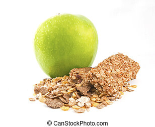 Muesli with green apple