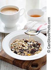 Muesli with nuts and dried fruits