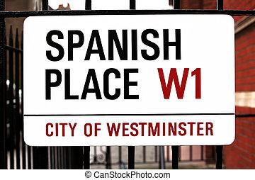 muestra de la ciudad, westminster, lugar, gb, español,...