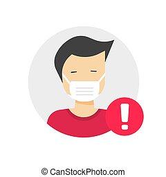 muestra de la precaución, plano, caricatura, advertencia, ...