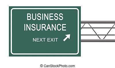 muestra del camino, a, seguro negocio