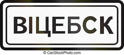 muestra del camino, utilizado, en, belarus, -, urbanizado,...