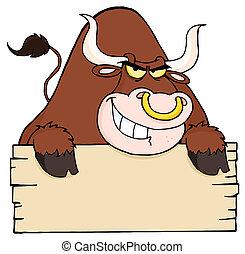muestra en blanco, duro, toro