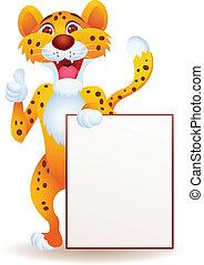 muestra en blanco, guepardo
