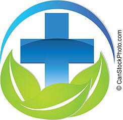 muestra médica, logotipo