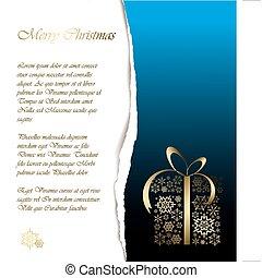 muestra, texto, resumen, tarjeta de navidad