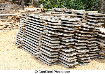 muffa, legno, cemento