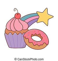muffin, étoile filante, beignet