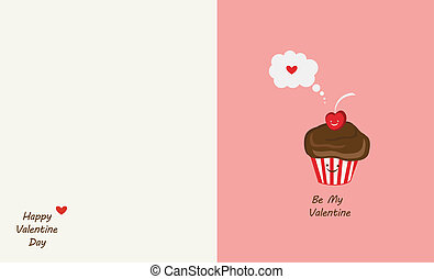 muffin and cherry best friends. Happy Valentines