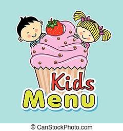 muffin, børn