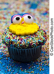 Muffin cake - Cupcake for child party with colorful candy