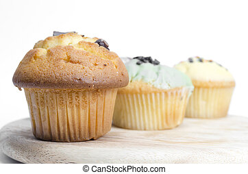 muffin cake isolated on white