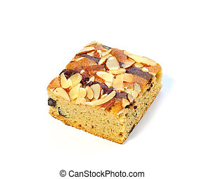 Muffin cake on white background, cookie