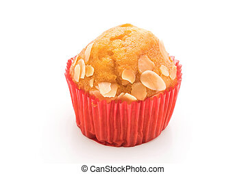 muffin cake on white background