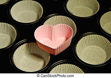 muffin cake pan heart