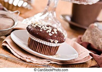 muffin., chocolat